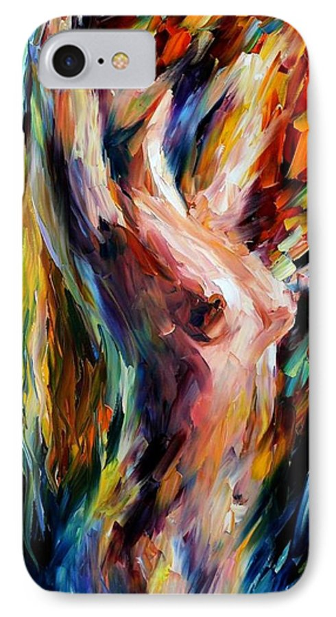 Nude IPhone 7 Case featuring the painting Morning by Leonid Afremov