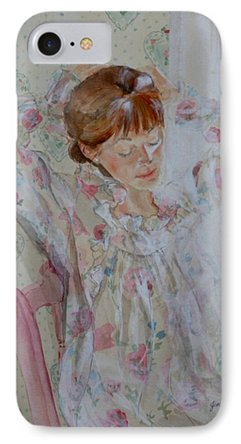 Morning IPhone 7 Case featuring the painting Morning Ritual by Jean Blackmer