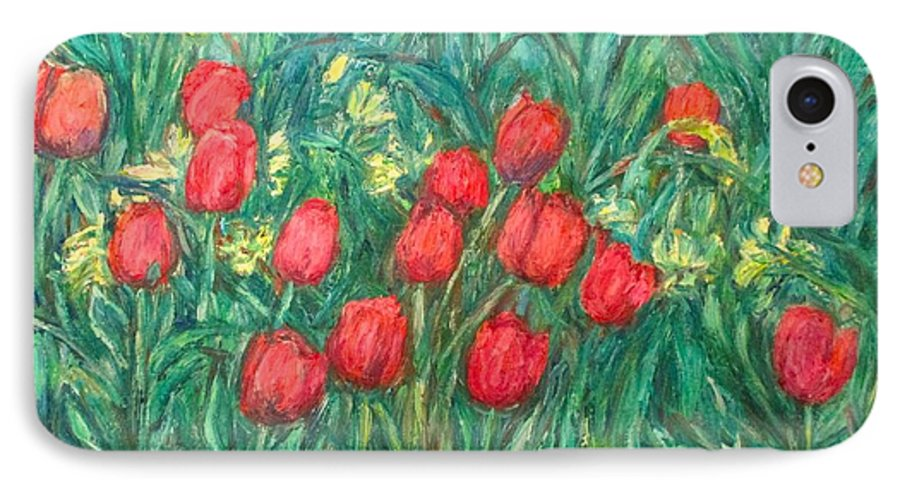 Kendall Kessler IPhone 7 Case featuring the painting Mostly Tulips by Kendall Kessler
