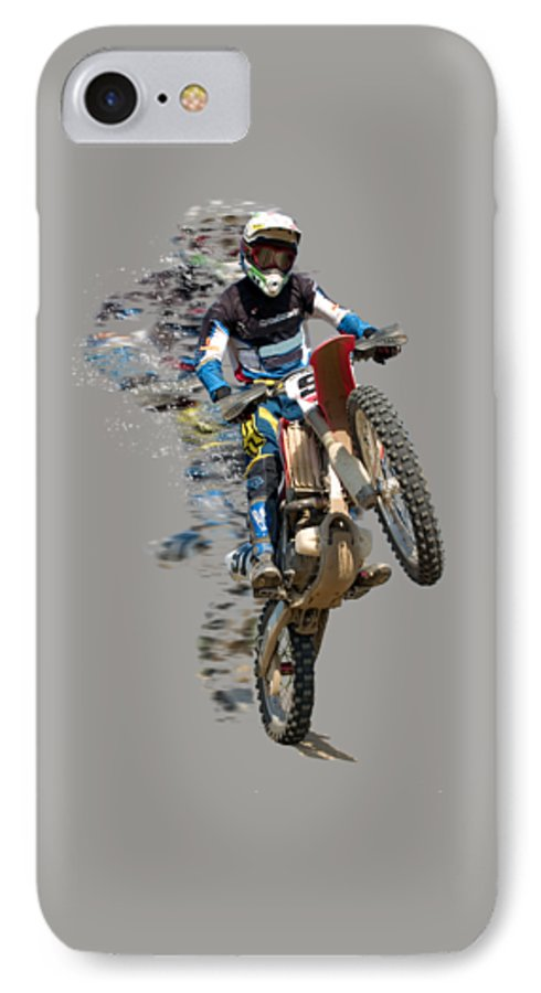 huge discount 5b0b8 504d9 Motocross Rider With Flying Pieces IPhone 7 Case