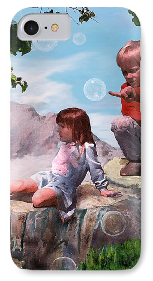 Landscape IPhone 7 Case featuring the painting Mount Innocence by Steve Karol