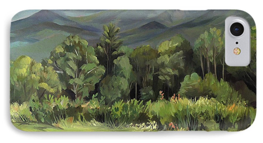 White Mountain Paintngs IPhone 7 Case featuring the painting Mount Lafayette From Sugar Hill New Hampshire by Nancy Griswold