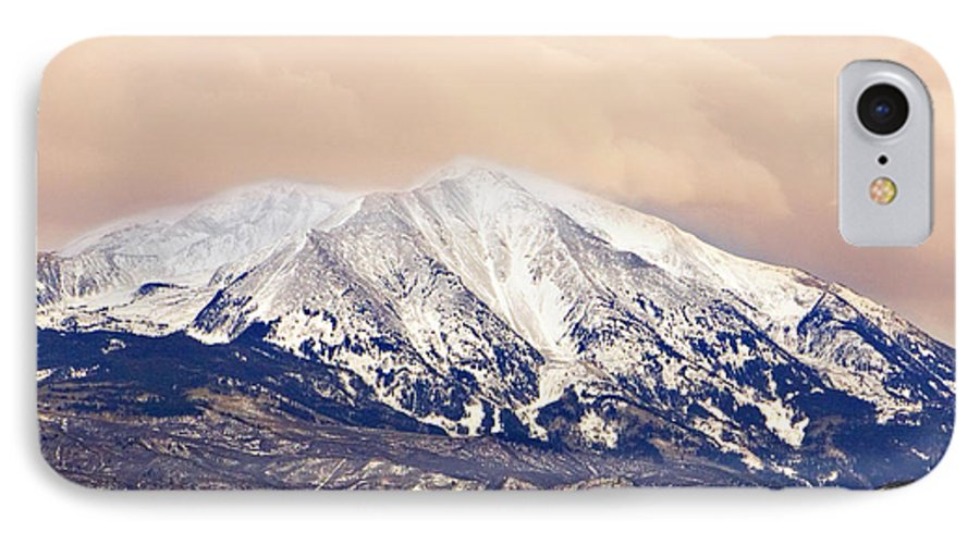 Americana IPhone 7 Case featuring the photograph Mount Sopris by Marilyn Hunt