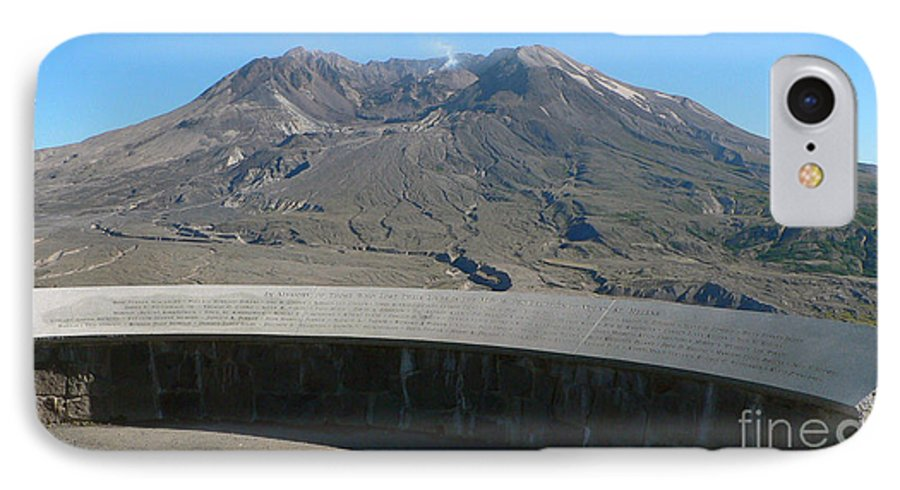 Volcano IPhone 7 Case featuring the photograph Mount St. Helen Memorial by Larry Keahey