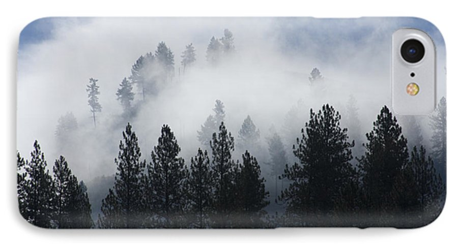 Fog IPhone 7 Case featuring the photograph Mountain Mist by Idaho Scenic Images Linda Lantzy