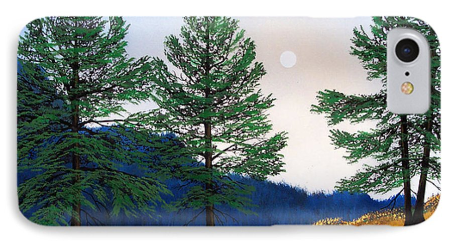 IPhone 7 Case featuring the painting Mountain Pines by Frank Wilson