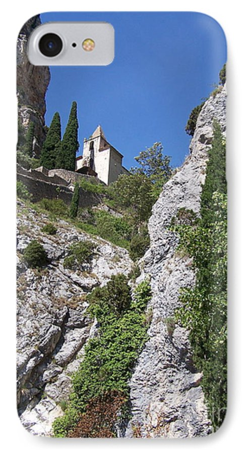 Church IPhone 7 Case featuring the photograph Moustier St. Marie Church by Nadine Rippelmeyer
