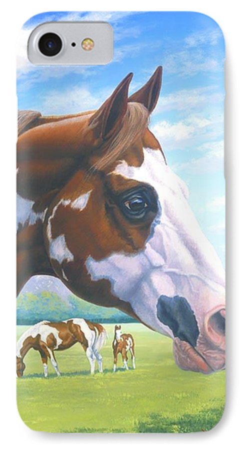 Paint Horse IPhone 7 Case featuring the painting Mr. Norfleets Legacy by Howard Dubois