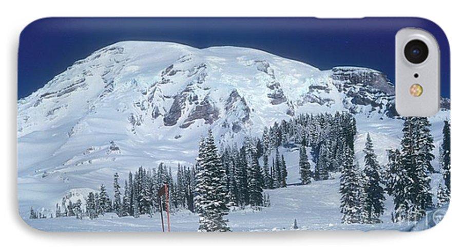 Mt. Rainier IPhone 7 Case featuring the photograph Mt. Rainier by Larry Keahey