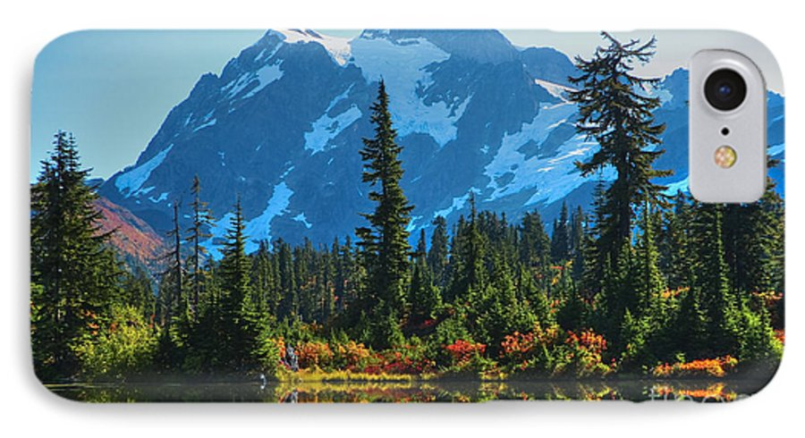 Mt. Shuksan IPhone 7 Case featuring the photograph Mt. Shuksan by Idaho Scenic Images Linda Lantzy