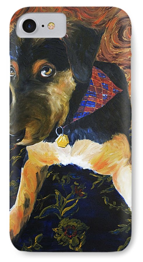 Dog IPhone 7 Case featuring the painting Murphy I by Nik Helbig