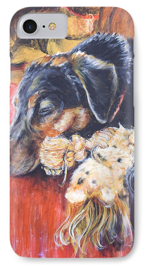 Dog IPhone 7 Case featuring the painting Murphy Viii by Nik Helbig