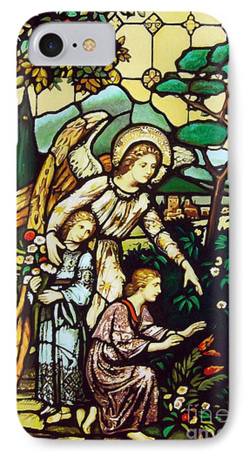 IPhone 7 Case featuring the painting My Angel by Jose Manuel Abraham