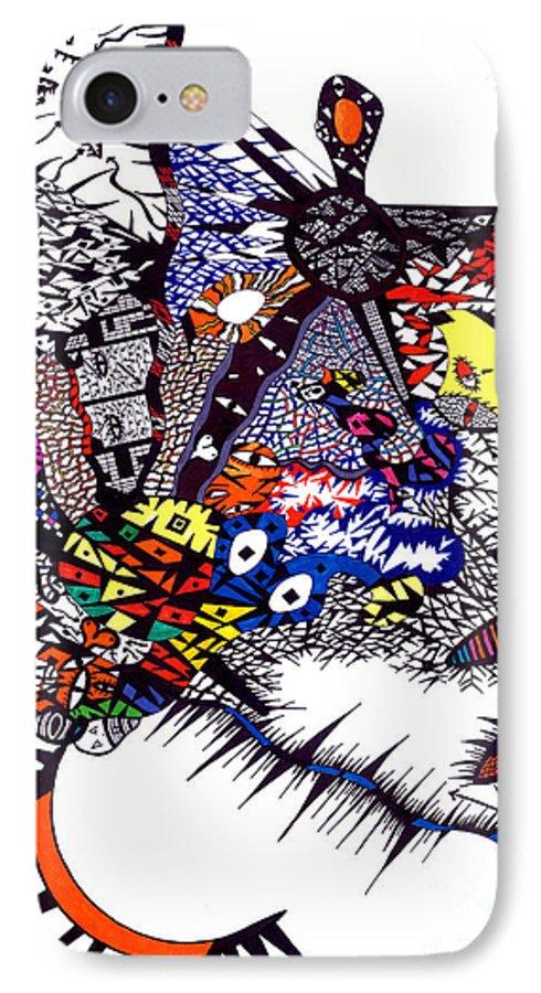 Feelings IPhone 7 Case featuring the painting My Feelings by Safak Tulga