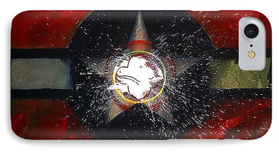 Usaaf Insignia IPhone 7 Case featuring the painting My Indian Red by Charles Stuart
