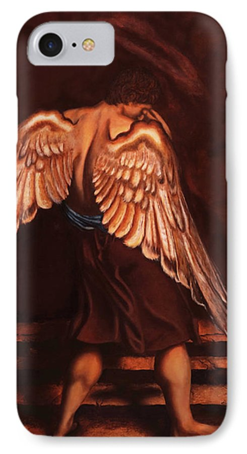 Giorgio IPhone 7 Case featuring the painting My Soul Seeks For What My Heart Lost by Giorgio Tuscani