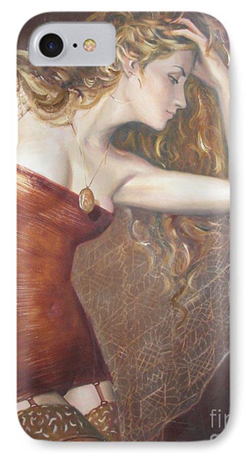 Ignatenko IPhone 7 Case featuring the painting My Talisman by Sergey Ignatenko
