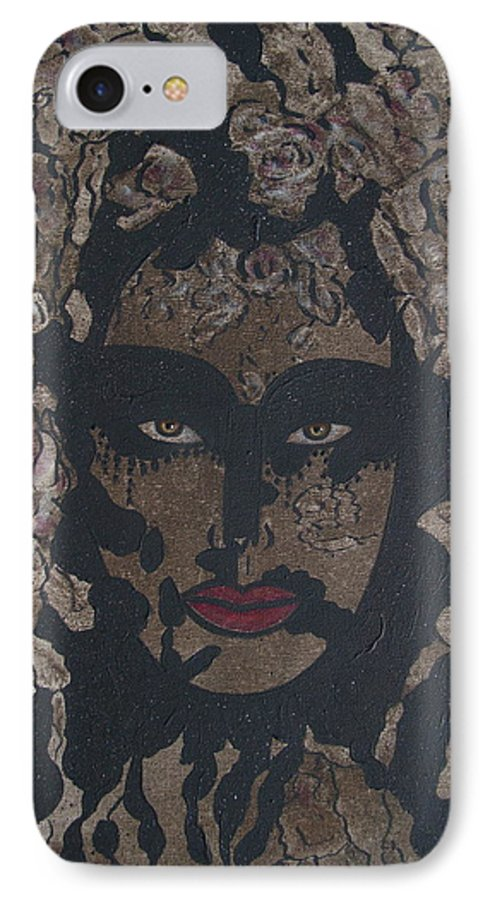 Figurative IPhone 7 Case featuring the painting Mysterious Desire by Natalie Holland