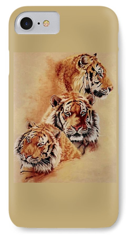 Tiger IPhone 7 Case featuring the pastel Nanook by Barbara Keith