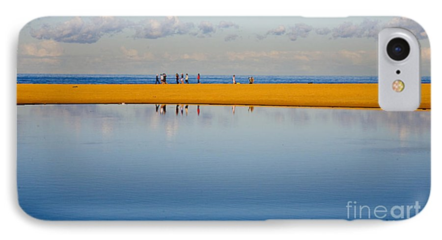 Dunes Lowry Sand Sky Reflection Sun Lifestyle Narrabeen Australia IPhone 7 Case featuring the photograph Narrabeen Dunes by Avalon Fine Art Photography