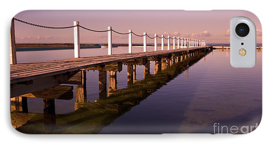 Narrabeen Sydney Sunrise Wharf Walkway IPhone 7 Case featuring the photograph Narrabeen Sunrise by Avalon Fine Art Photography