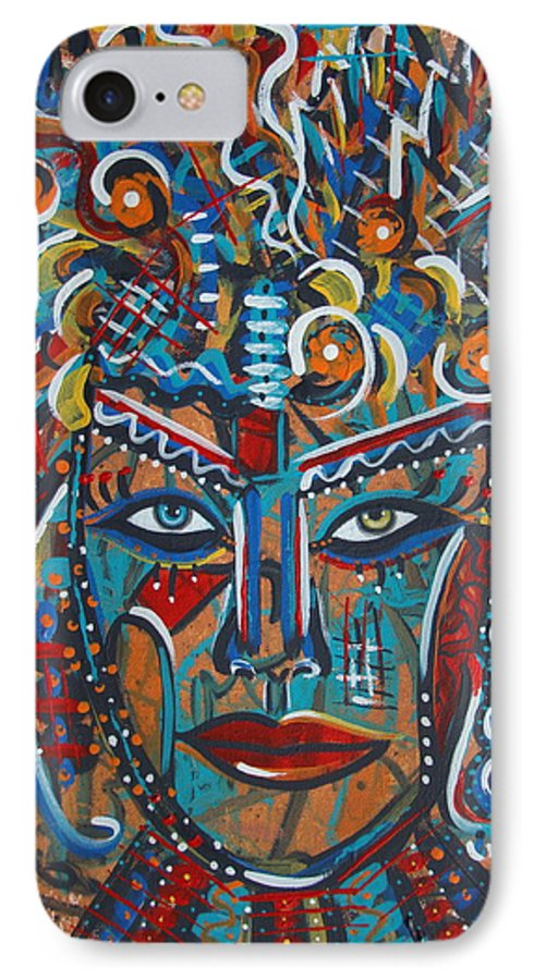 Abstract IPhone 7 Case featuring the painting Nataliana by Natalie Holland