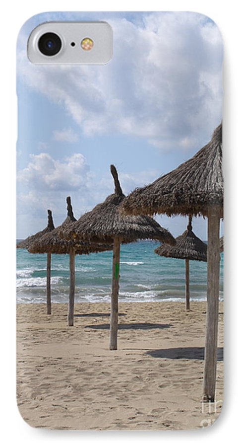 Beach IPhone 7 Case featuring the photograph Natural Umbrella by Chad Natti