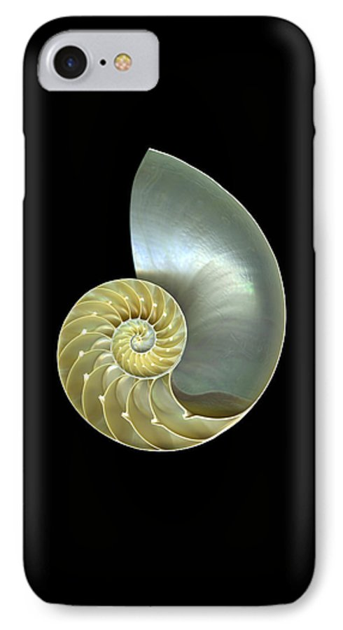 Slanec IPhone 7 Case featuring the photograph Nautilus Nr.1 by Christian Slanec