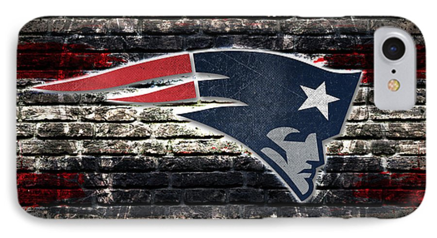 New England Patriots IPhone 7 Case featuring the digital art New England Patriots Nfl Football by Nicholas Legault