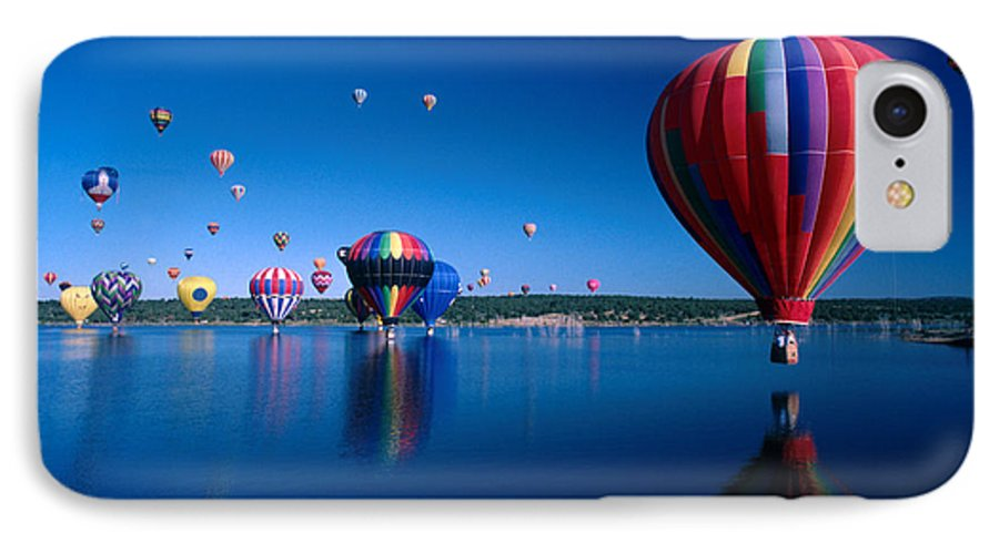 Hot Air Balloon IPhone 7 Case featuring the photograph New Mexico Hot Air Balloons by Jerry McElroy