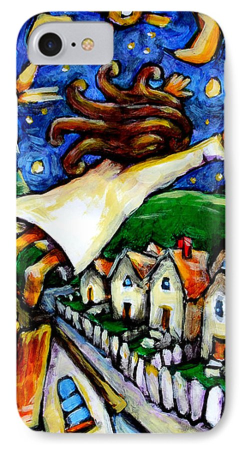 Children IPhone 7 Case featuring the painting Night Fall by Chad Elliott