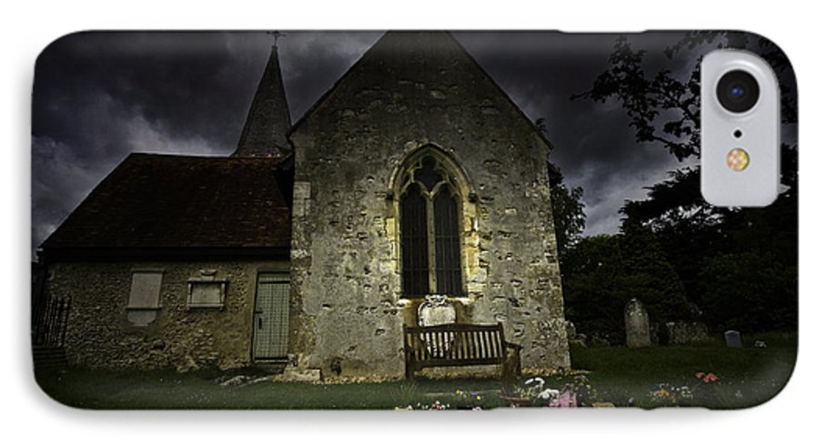 Church IPhone 7 Case featuring the photograph Norman Church At Lissing Hampshire England by Sheila Smart Fine Art Photography