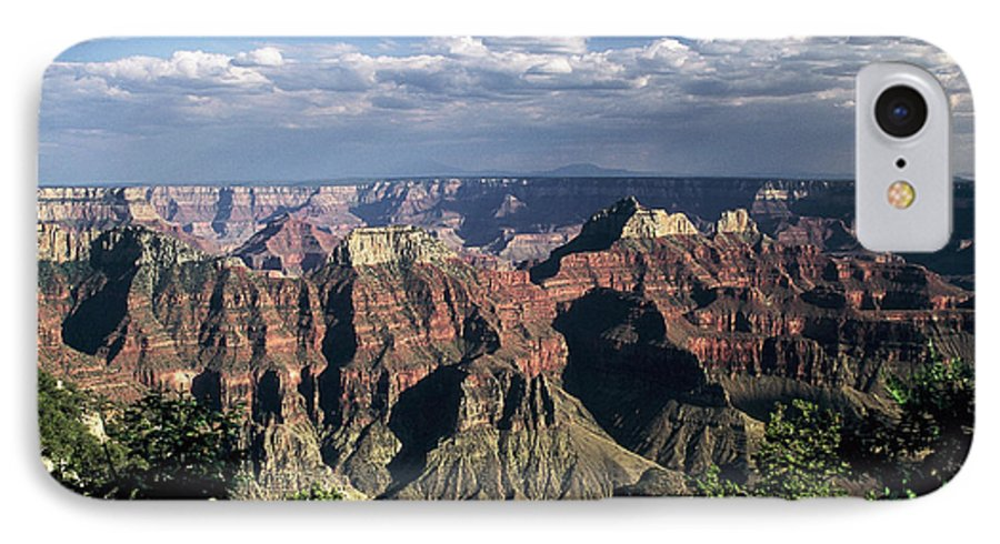 Grand Canyon; National Parks IPhone 7 Case featuring the photograph North Rim by Kathy McClure