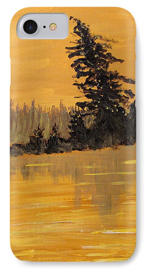Northern Ontario IPhone 7 Case featuring the painting Northern Ontario Three by Ian MacDonald