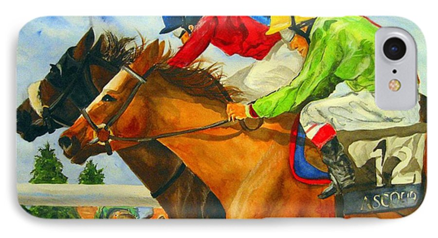 Horse IPhone 7 Case featuring the painting Nose To Nose by Jean Blackmer