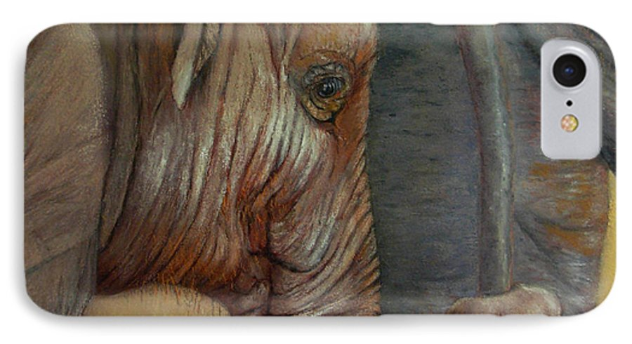 Africa IPhone 7 Case featuring the painting Now You Hold On Tight by Ceci Watson