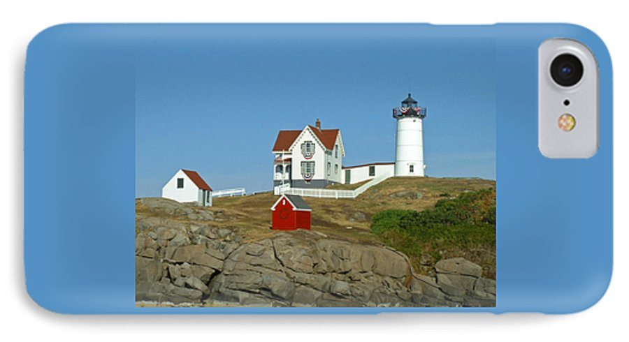 Nubble IPhone 7 Case featuring the photograph Nubble Light by Margie Wildblood