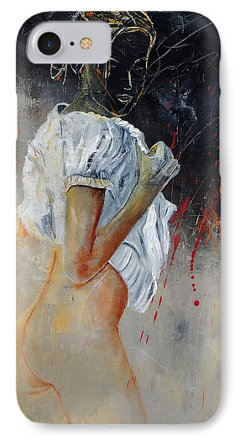 Nude IPhone 7 Case featuring the painting Nude 560508 by Pol Ledent