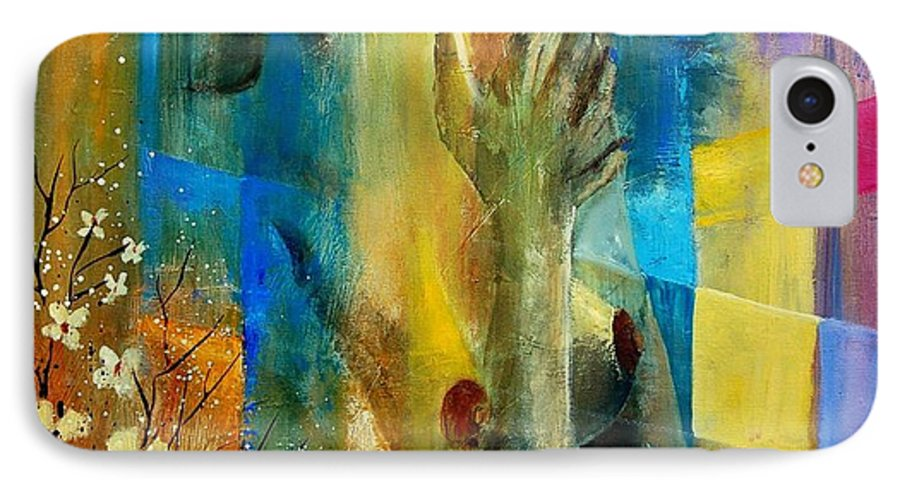 Nude IPhone 7 Case featuring the painting Nude 5609082 by Pol Ledent