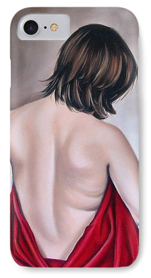 Nude IPhone 7 Case featuring the painting Nude Hundred And One Of Seven by Ilse Kleyn