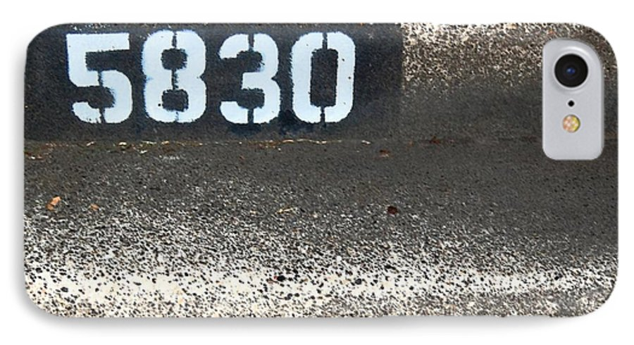 Numbers IPhone 7 Case featuring the photograph Numbers by Debbi Granruth