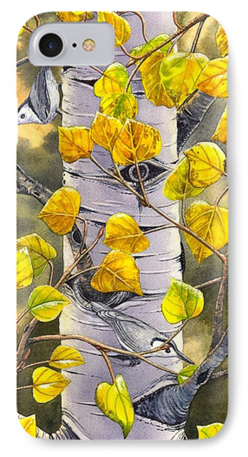 Nuthatch IPhone 7 Case featuring the painting Nuthatches by Catherine G McElroy