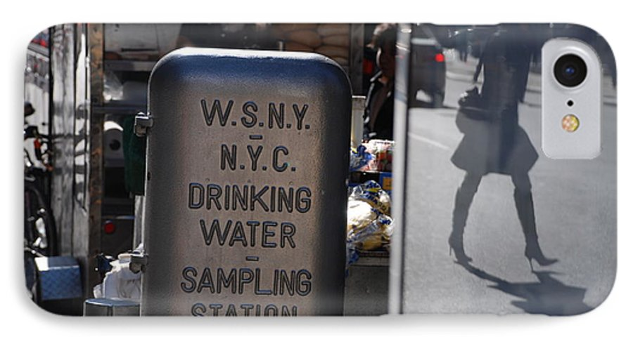 Street Scene IPhone 7 Case featuring the photograph Nyc Drinking Water by Rob Hans