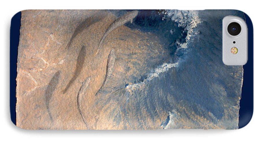 Seascape IPhone 7 Case featuring the painting Ocean by Steve Karol