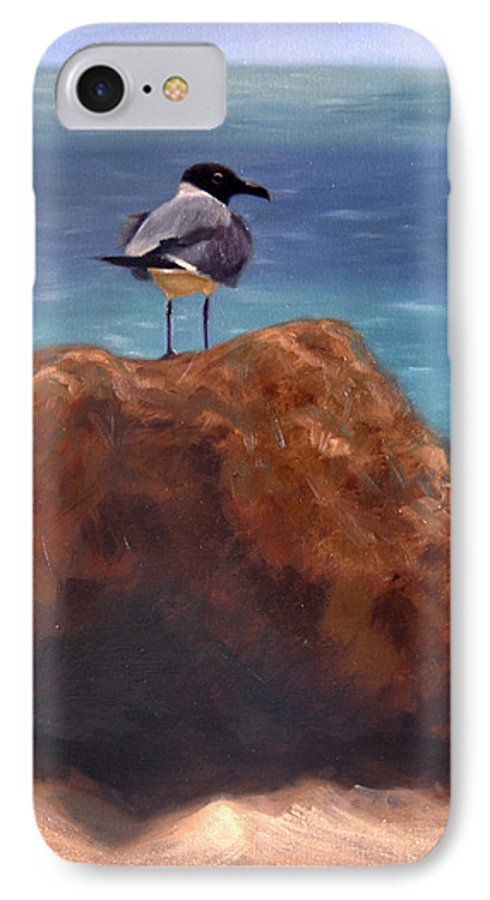 Oil IPhone 7 Case featuring the painting Ocean View by Greg Neal