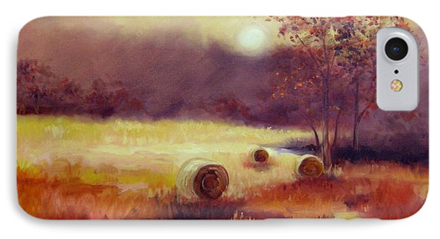 Fall Landscapes IPhone 7 Case featuring the painting October Pasture by Ginger Concepcion