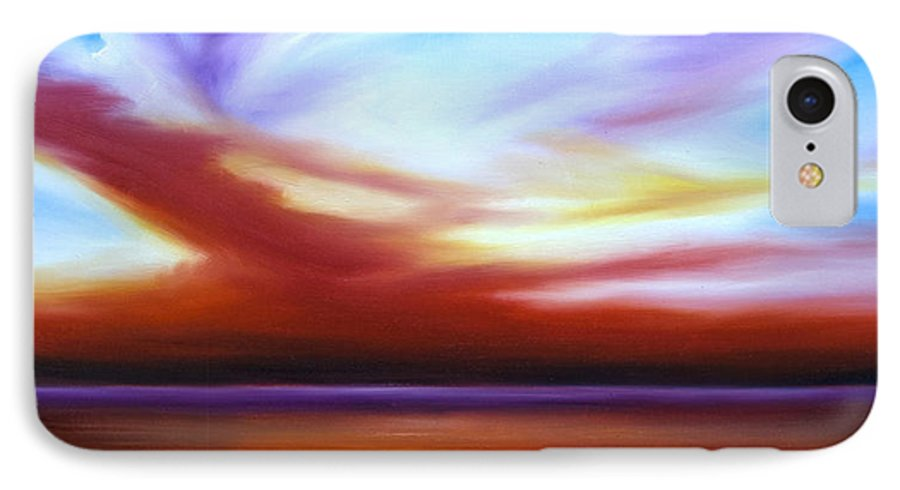 Skyscape IPhone 7 Case featuring the painting October Sky IIi by James Christopher Hill