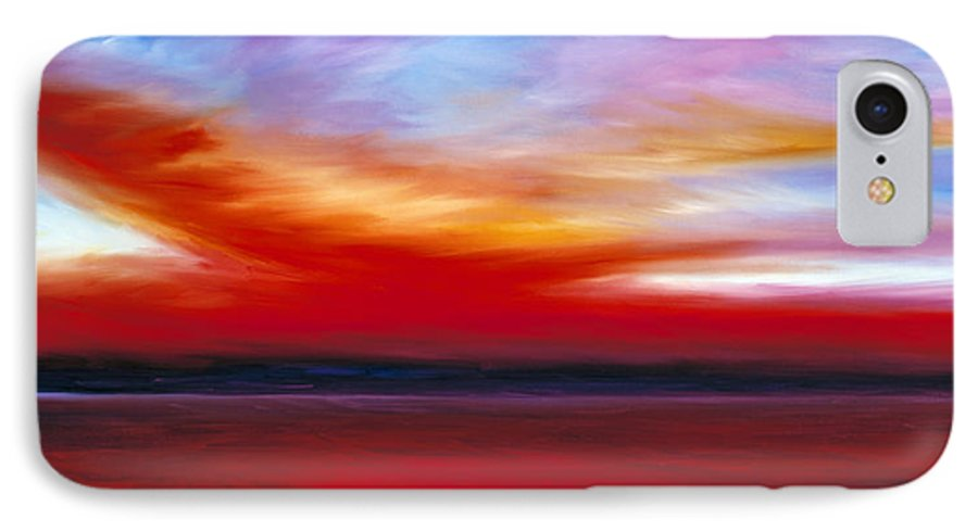 Clouds IPhone 7 Case featuring the painting October Sky by James Christopher Hill