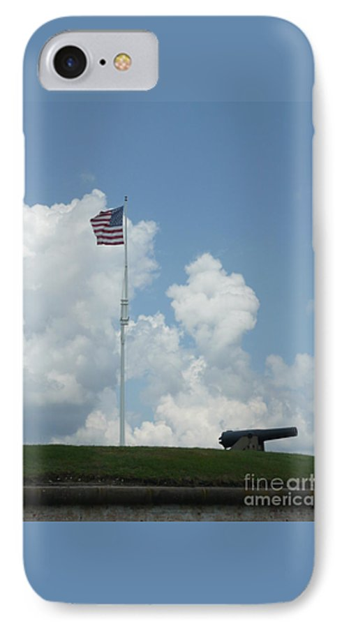 Flag IPhone 7 Case featuring the photograph Oh Say Can You See by Barb Montanye Meseroll