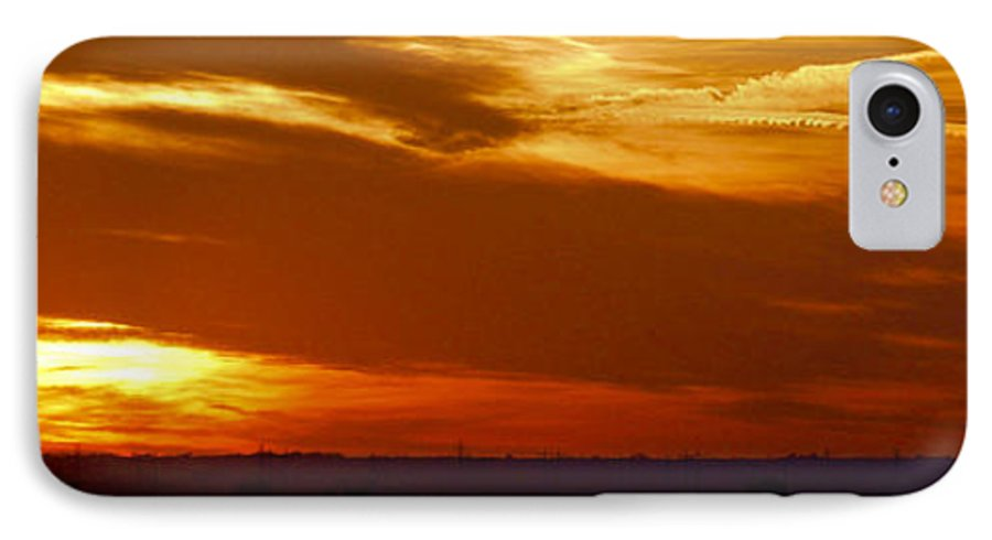Landscape IPhone 7 Case featuring the photograph Oklahoma Sunset by Larry Keahey